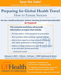Preparing for Global Health Travel
