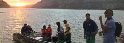 Student trip Lac Azuei